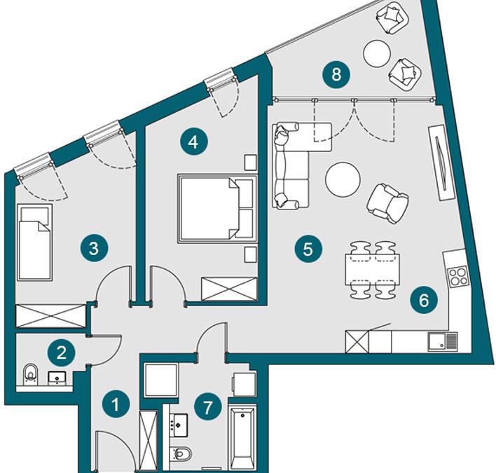 3-Zi., 85.83 m², OG1