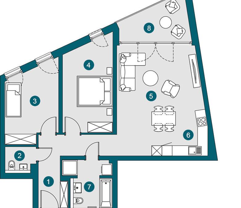 3-Zi., 85.83 m², OG2