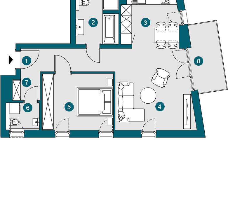 2-Zi., 63.91 m², OG2